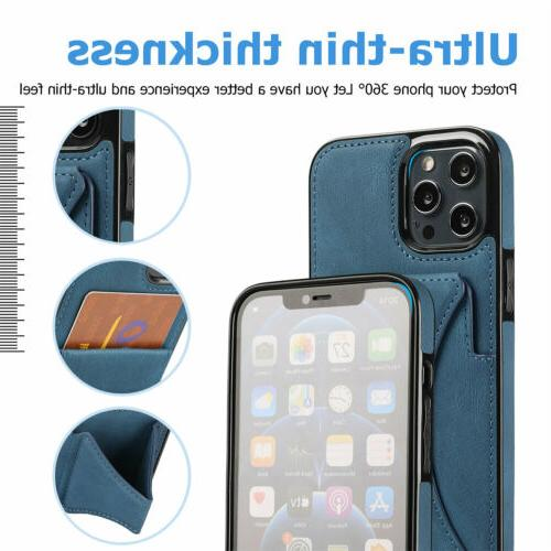 Leather Card Stand 13 Pro 11 XS XR 8 7 Plus
