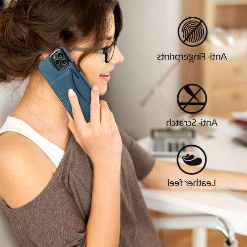 Leather Holder Stand Case For iPhone 13 Pro 11 XS XR 7 Plus