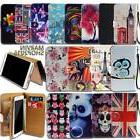 Leather Wallet Card Stand Flip Case Cover For Various Blackv