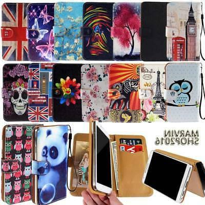 Leather Wallet Card Stand Flip Case Cover For SWEES Android