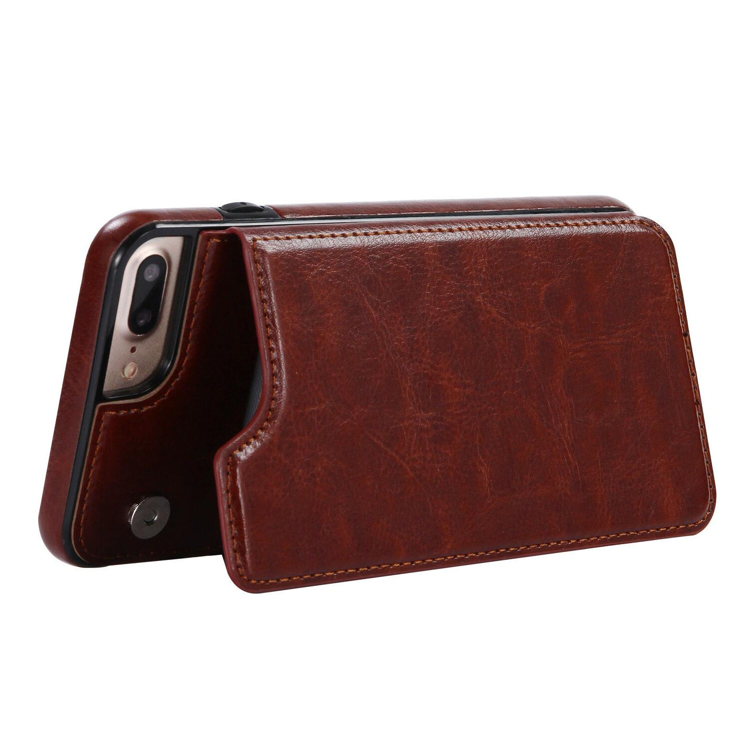 Leather Slot Cover Apple iPhone Max Plus
