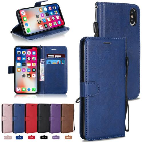 leather wallet case flip cover for apple