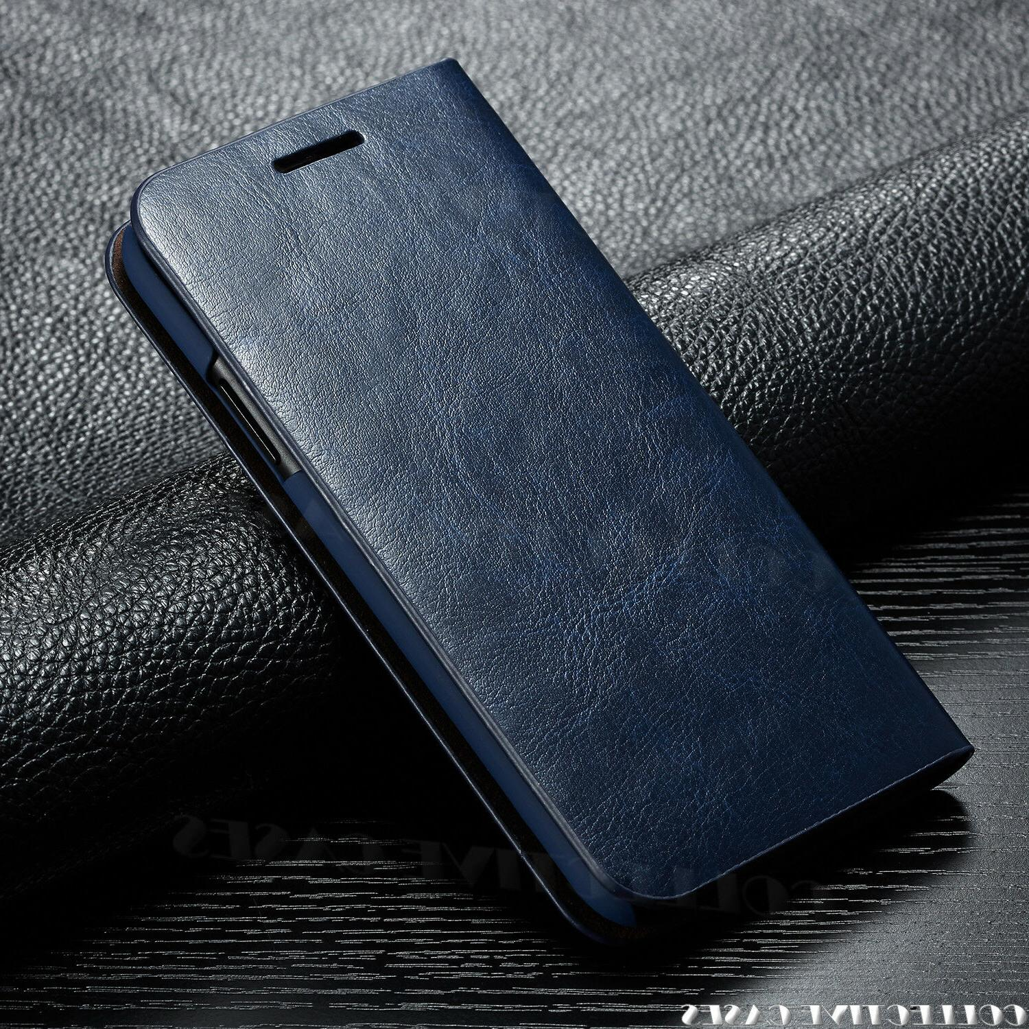 Leather iPhone X XS Card Flip Case For