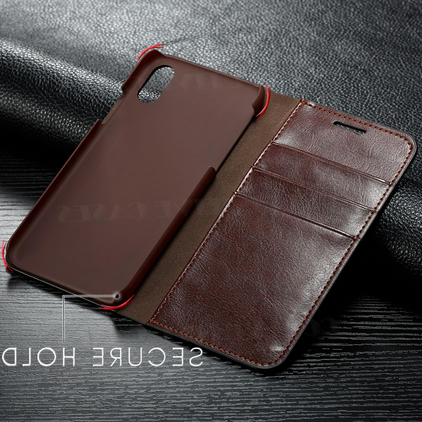 Leather iPhone Card Flip Case For XR