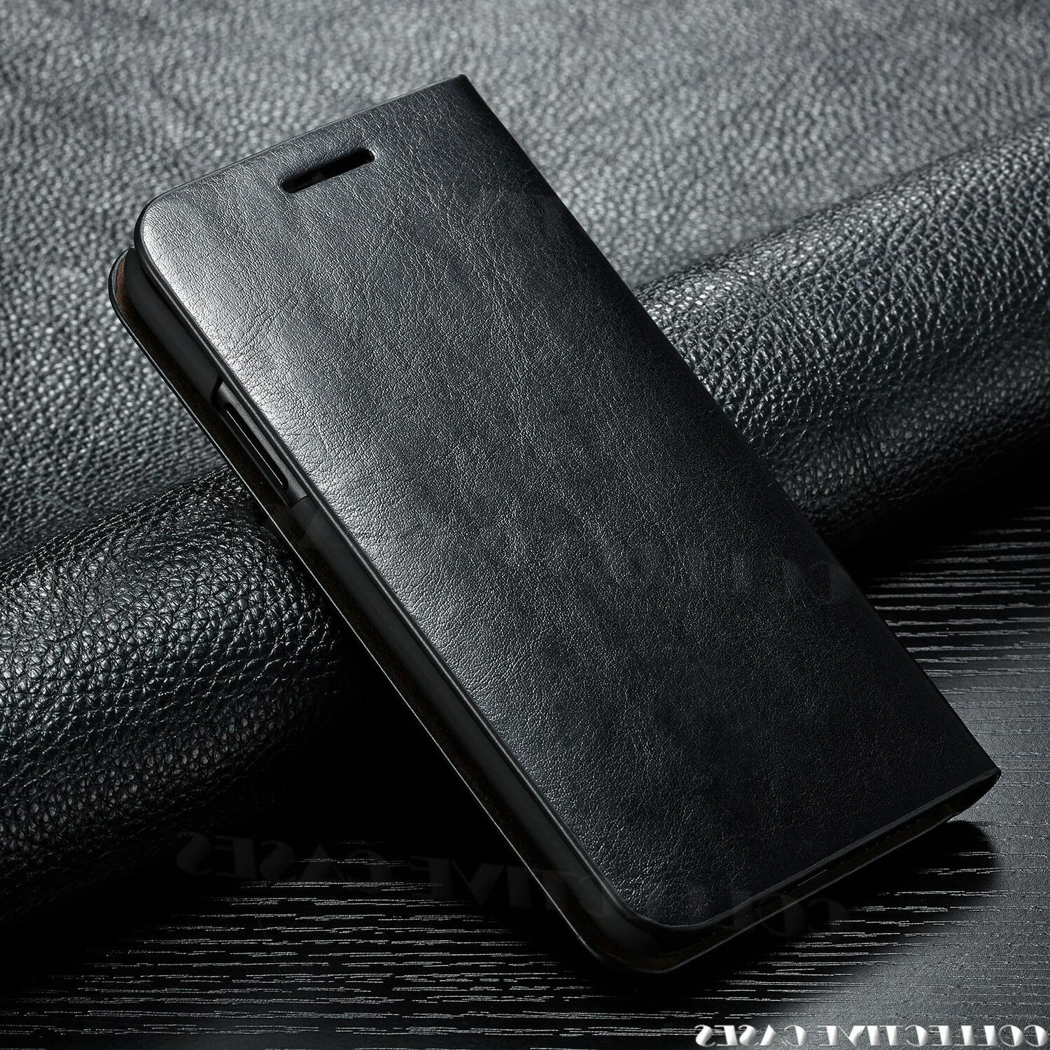 Leather Wallet Case For iPhone X Card Slot Flip Cover