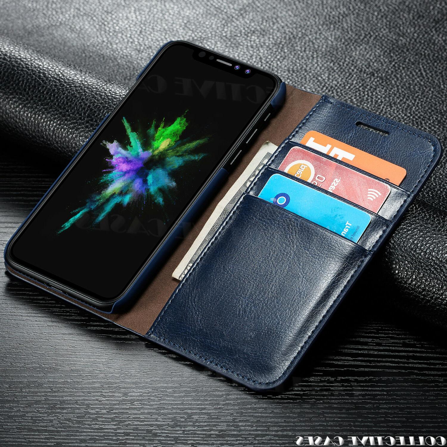 Leather Wallet For iPhone Card Slot Flip Cover Case