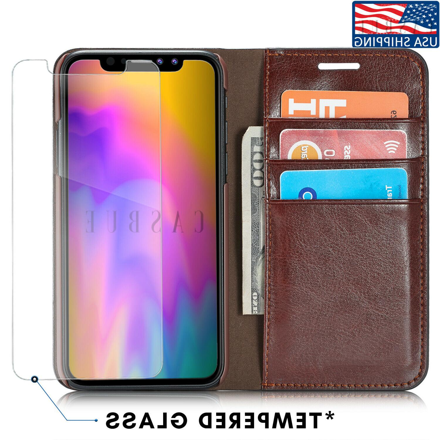 leather wallet case for iphone x xs
