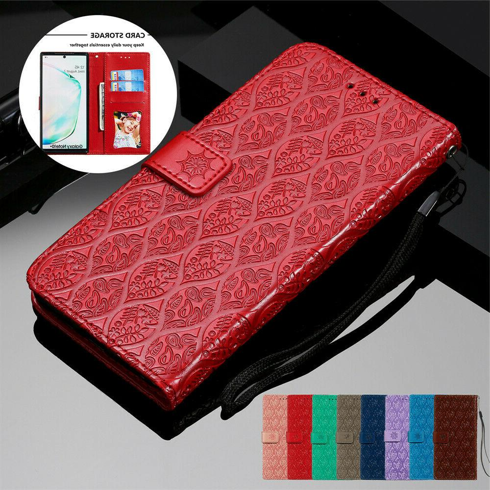 Leather Wallet Samsung Galaxy Note 20 10 9 S10 Flip Cover