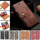 LEATHER WALLET CASE WITH MAGNETIC DETACHABLE HARD COVER FOR