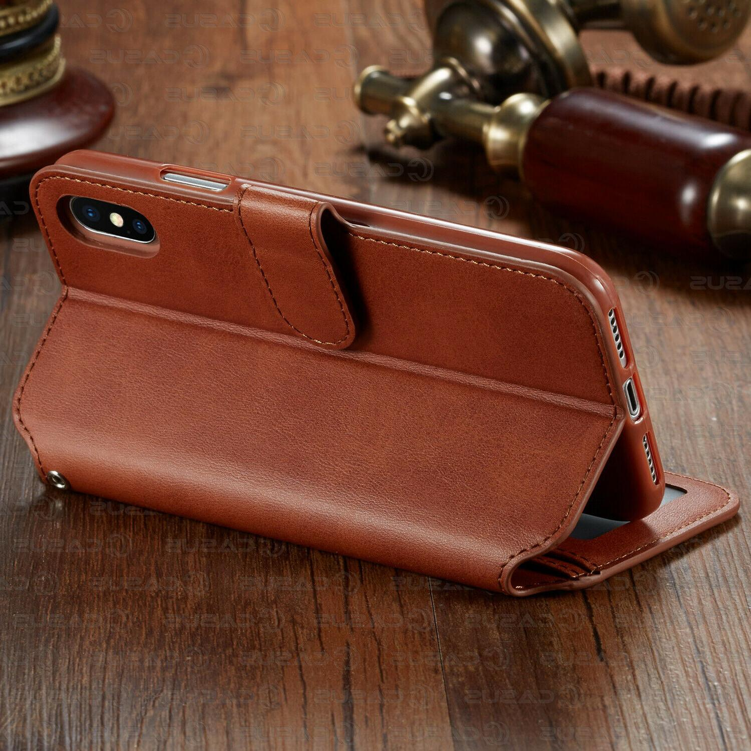 Leather Wallet Holder Cover iPhone 11 PRO XR 8/6