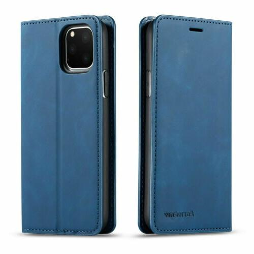 Leather Wallet Stand Card Cover For iPhone 11 XS Max