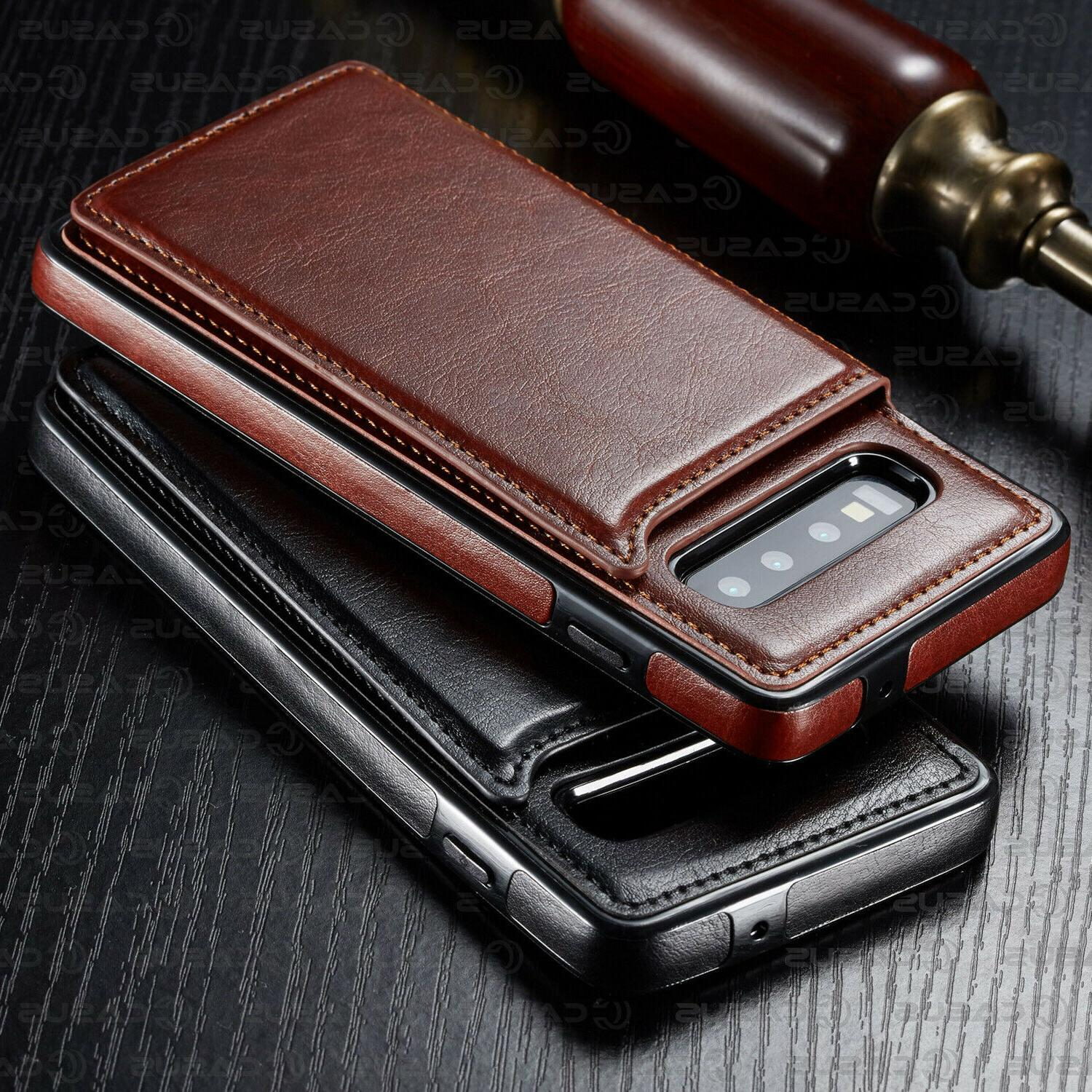 Leather Wallet Cover Thin Slim Case For Plus