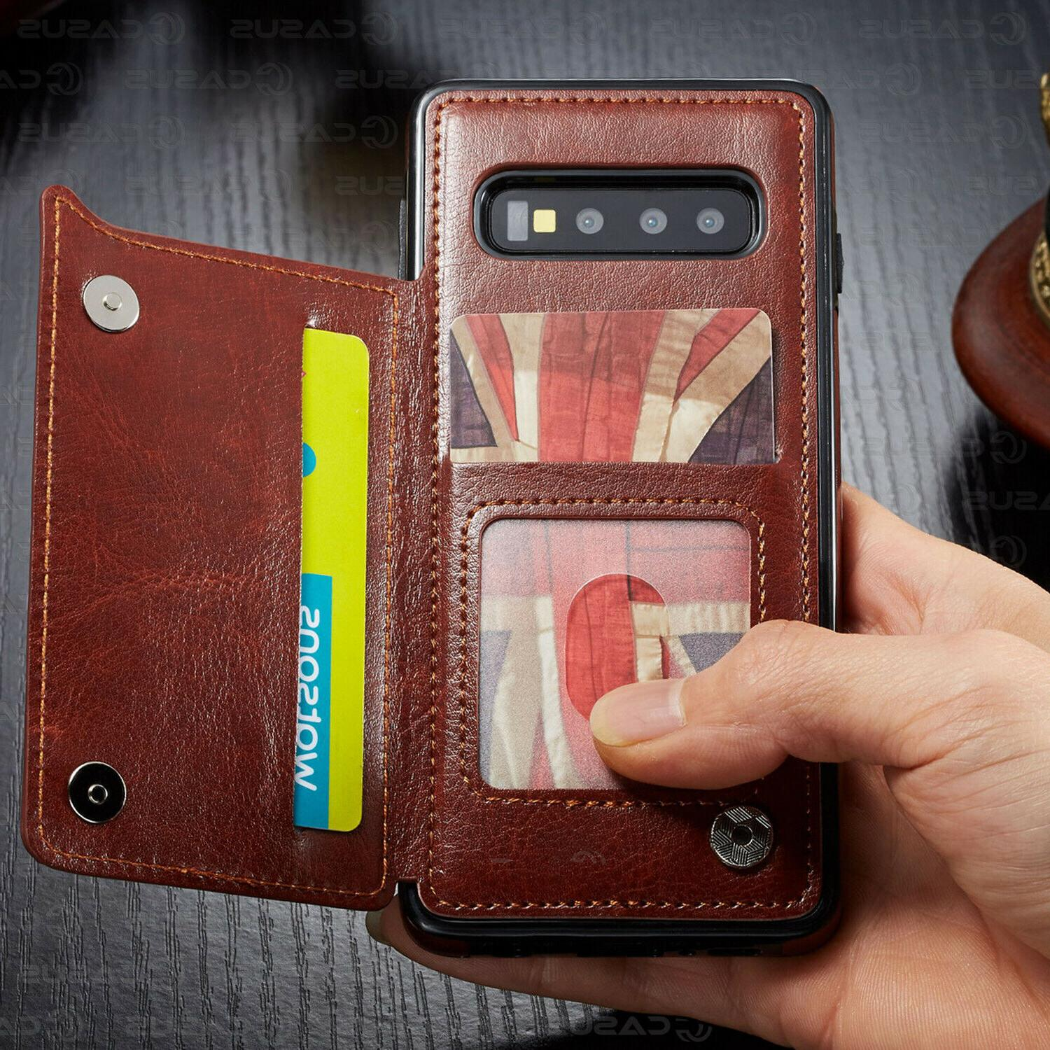 Leather Wallet Flip Cover For Galaxy Plus