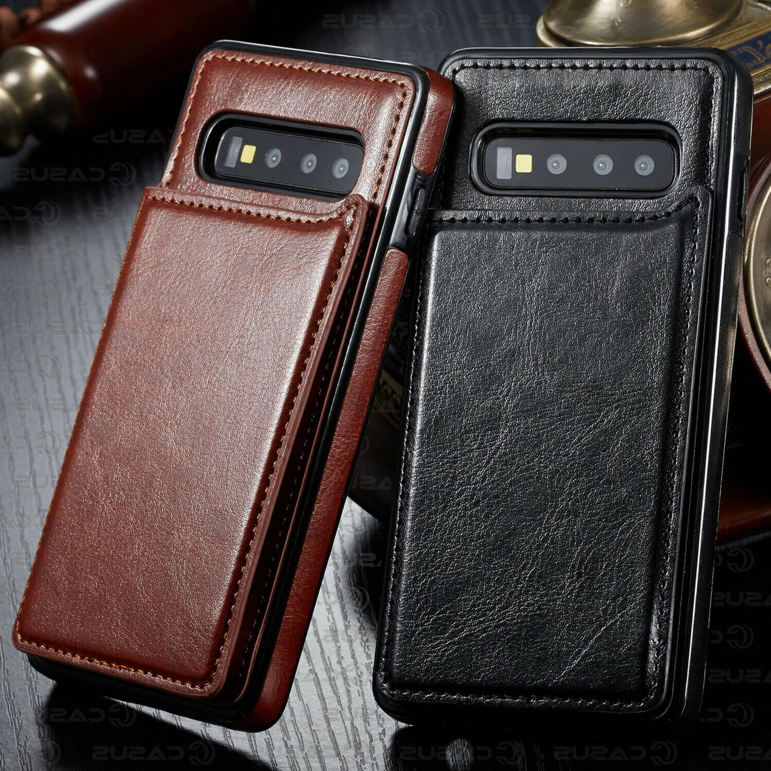 Leather Magnet Flip Cover Thin For Plus