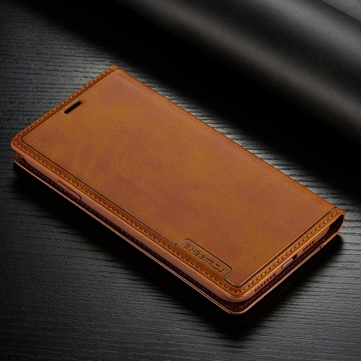 Leather Wallet Magnetic Card Case For 12 11 PRO MAX Plus