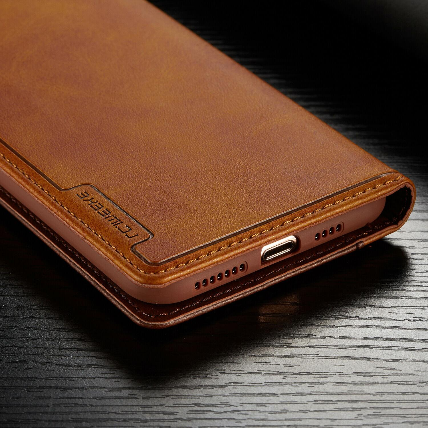 Leather Wallet Card Case For iPhone 11 PRO XR Plus