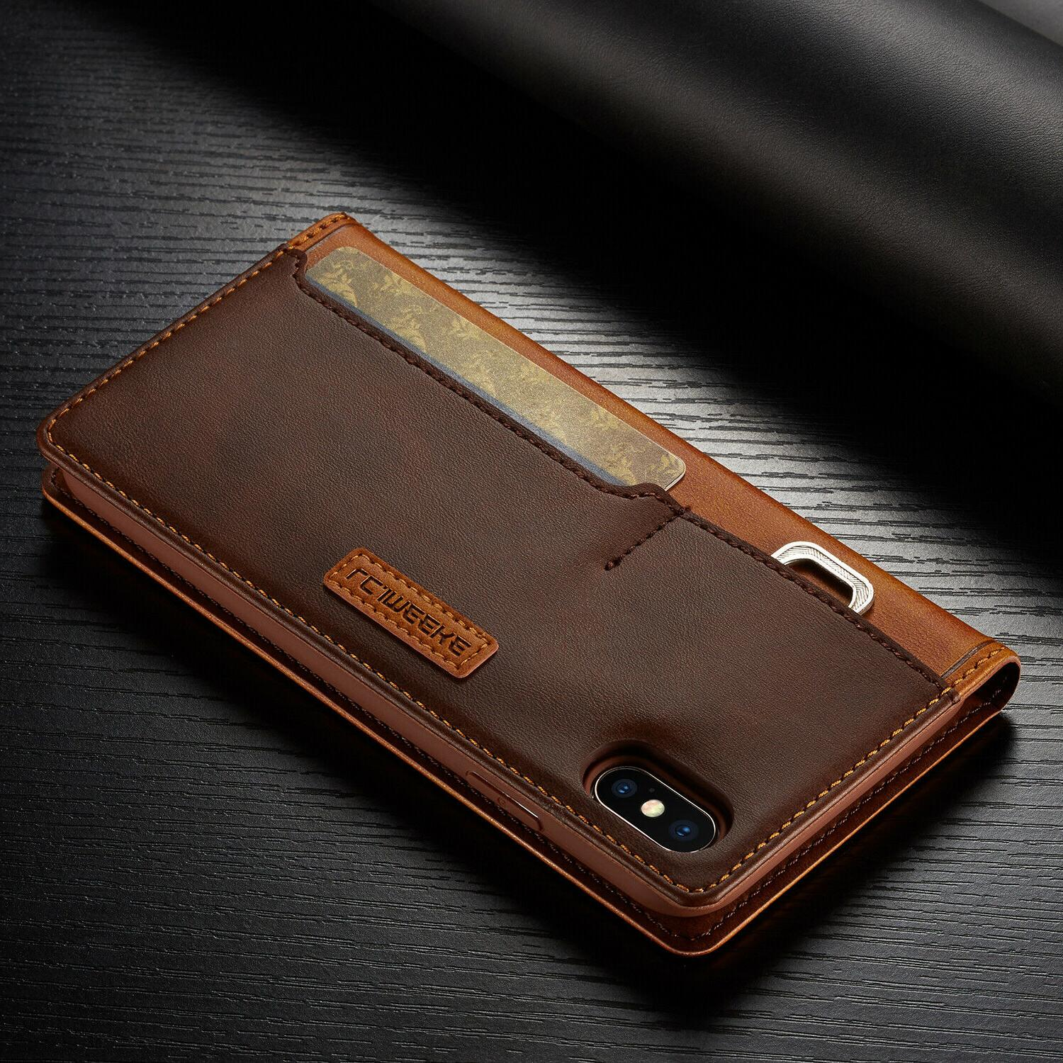 Leather Magnetic Cover Card Case 12 XS MAX 8/7