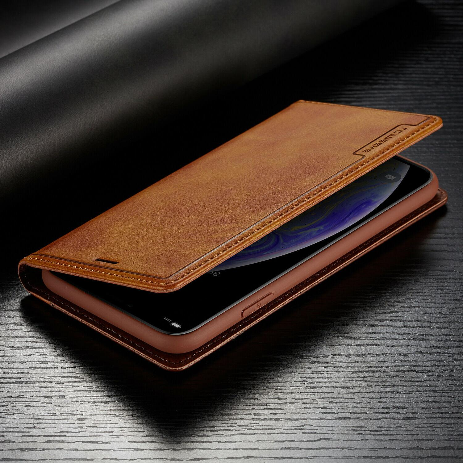 Leather Magnetic Card Case iPhone 12 11 PRO MAX 8/7 Plus