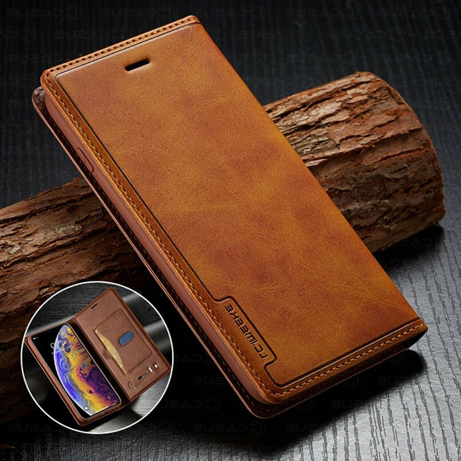 leather wallet magnetic flip cover sim card
