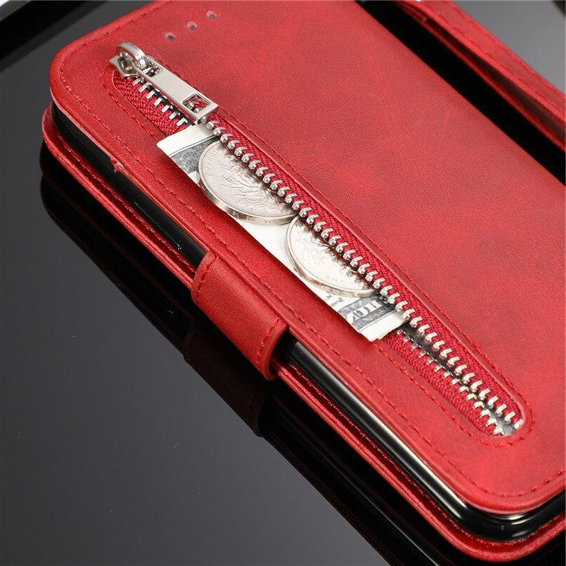 Leather Zipper Flip Note10plus A70 A50 <font><b>Wallet</b></font> For Galaxy S10 S9 S8 Edge Note 9 10 Phone Cover