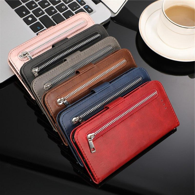 Leather Flip Note10plus A70 A50 A40 <font><b>Wallet</b></font> Samaung Galaxy S8 Plus S7 Note 8 Phone