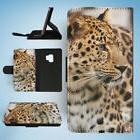 LEOPARD AFRICAN ANIMAL 24 FLIP WALLET CASE FOR SAMSUNG GALAX