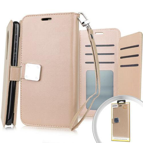 For LG - Book Style Protective Case with Card Pockets