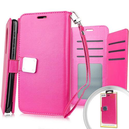 For LG Aristo - Style Protective Cover Card Pockets