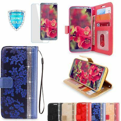 For LG G6 2017 Luxury Leather Card Wallet Flip Stand Case Co