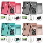 For LG Rebel 2 / Fortune Deluxe Wallet Case With Double Hold