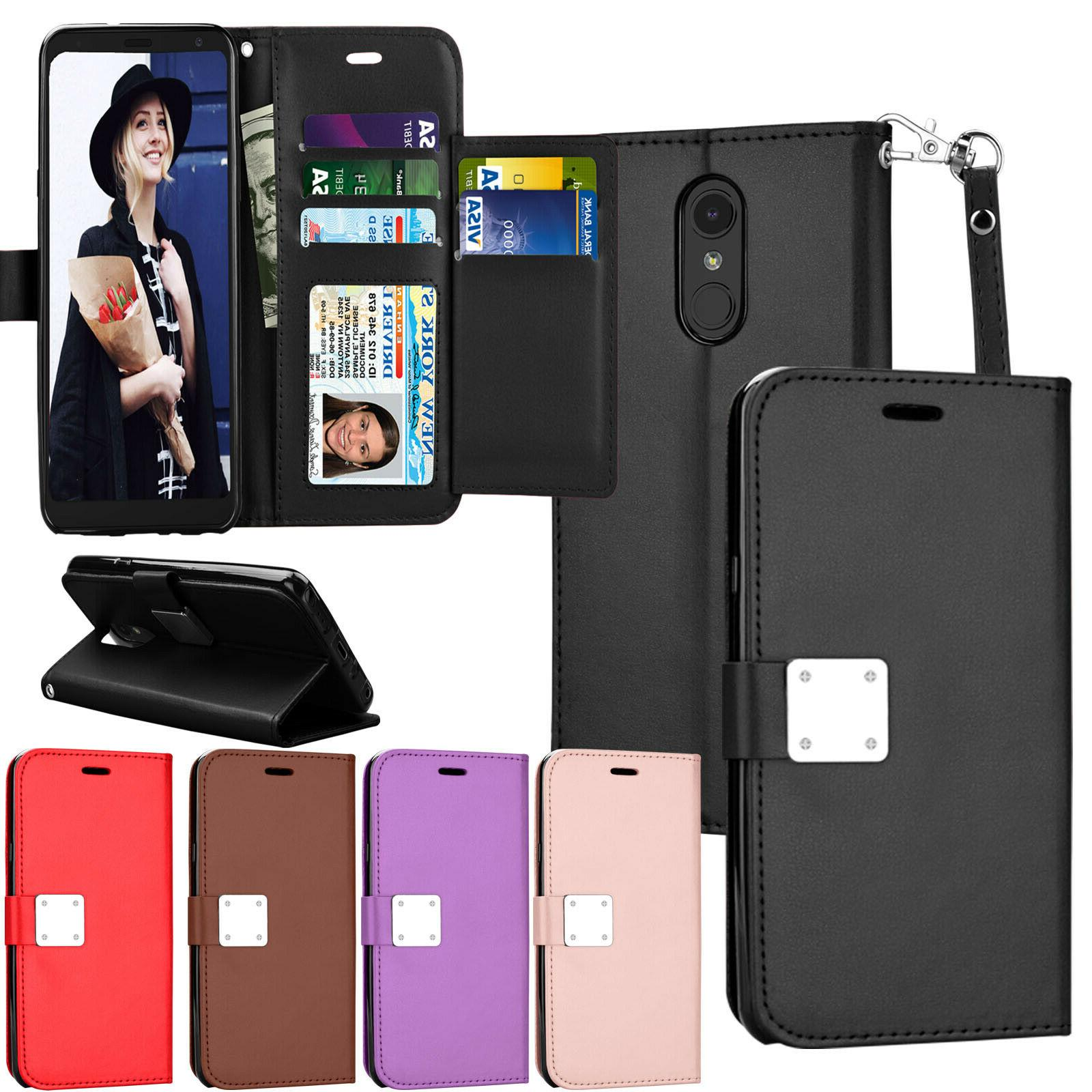 lg stylo 4 leather wallet protective