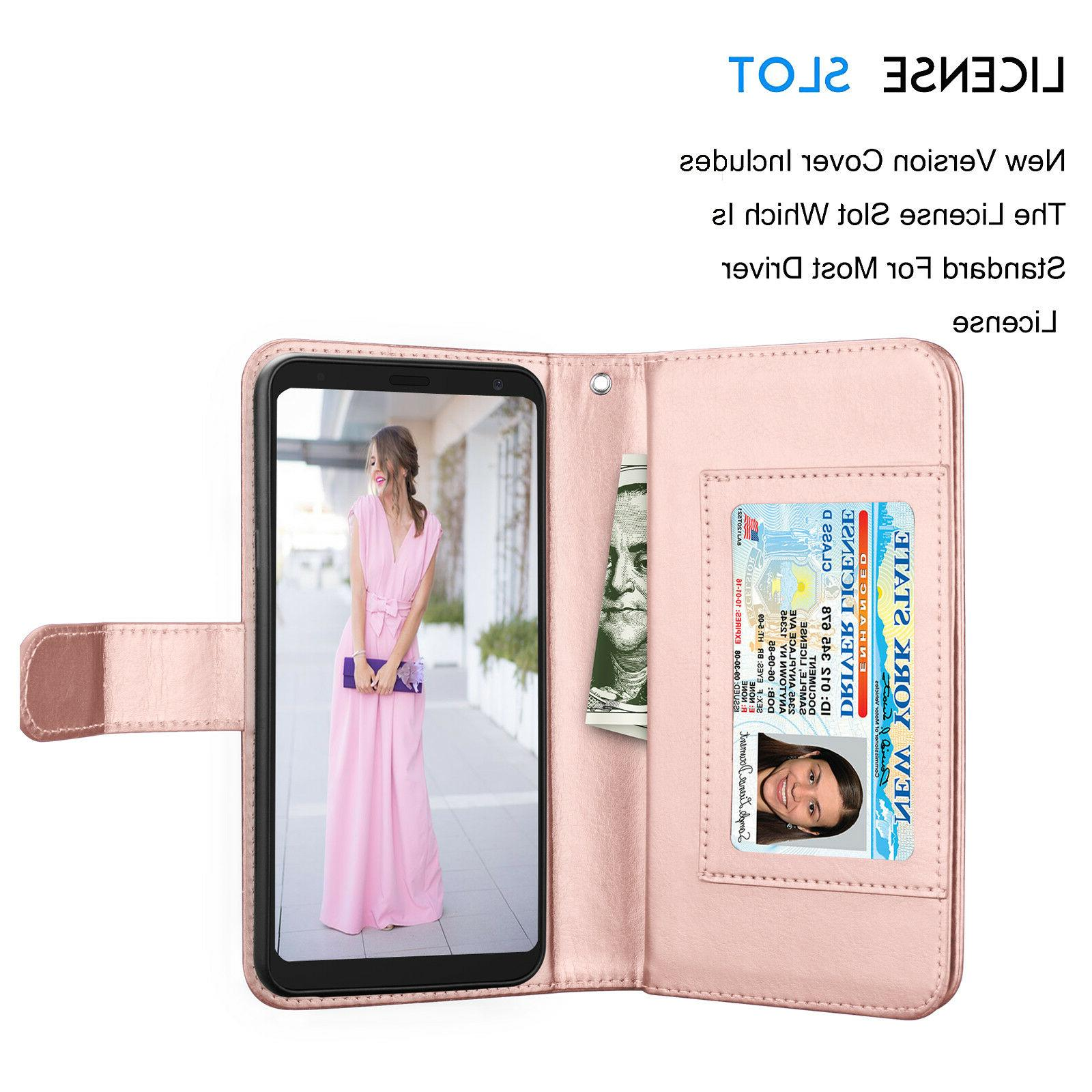 For Stylo Leather Wallet Case Holder Protective