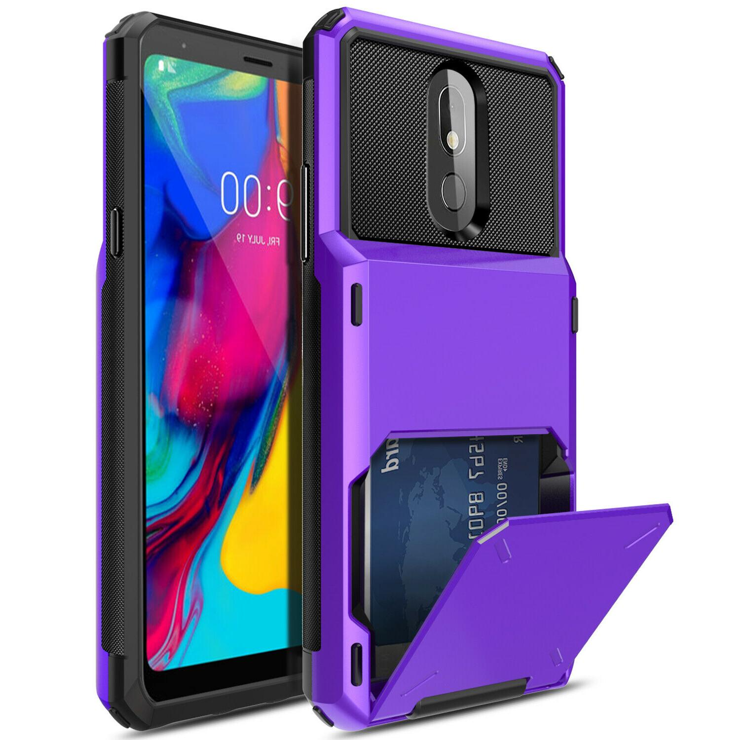 For Plus Phone Hybrid Card Hard Cover