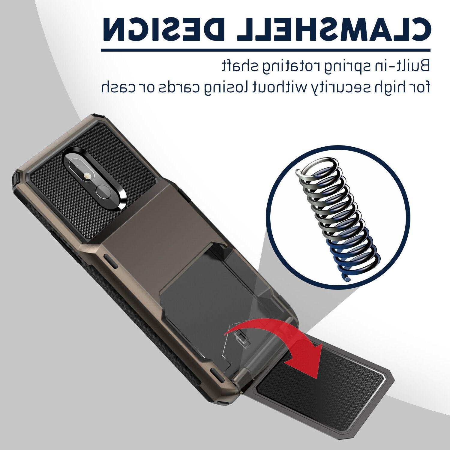 For Phone Card Wallet Slot Armor
