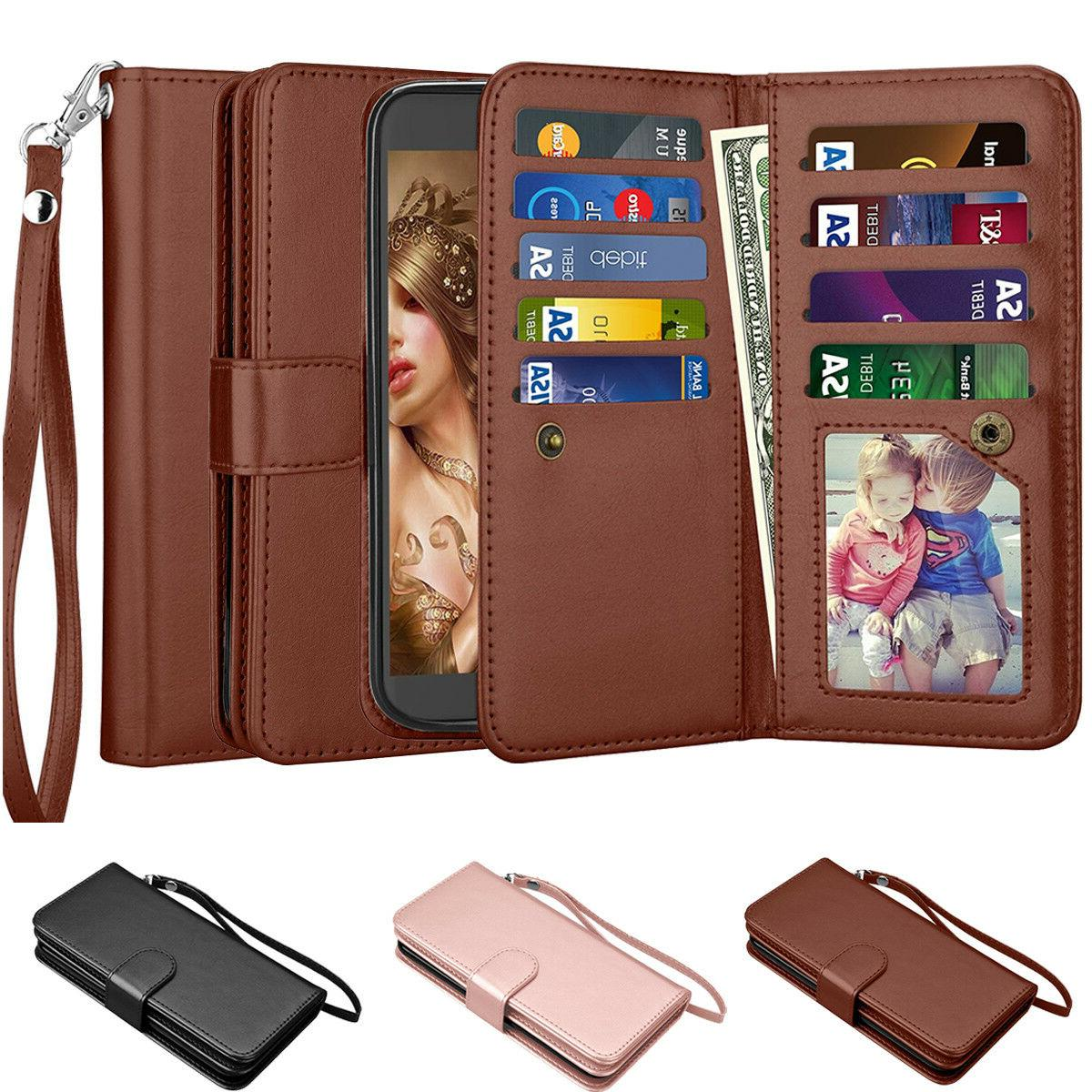 For LG Stylus 3/ Stylo 3 Leather Wallet Credit Card Holder F