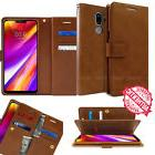 For LG G7 V35 ThinQ Wallet leather Book Dual Flip Card Rugge
