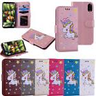 Lovely Unicorn Flip Leather Wallet Case Card Slot Stand Hold