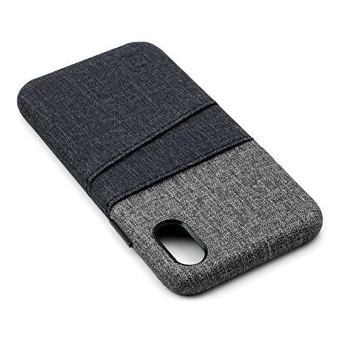 Dockem Luxe for iPhone Card Canvas Slim Cover 2 Card Holder Slots