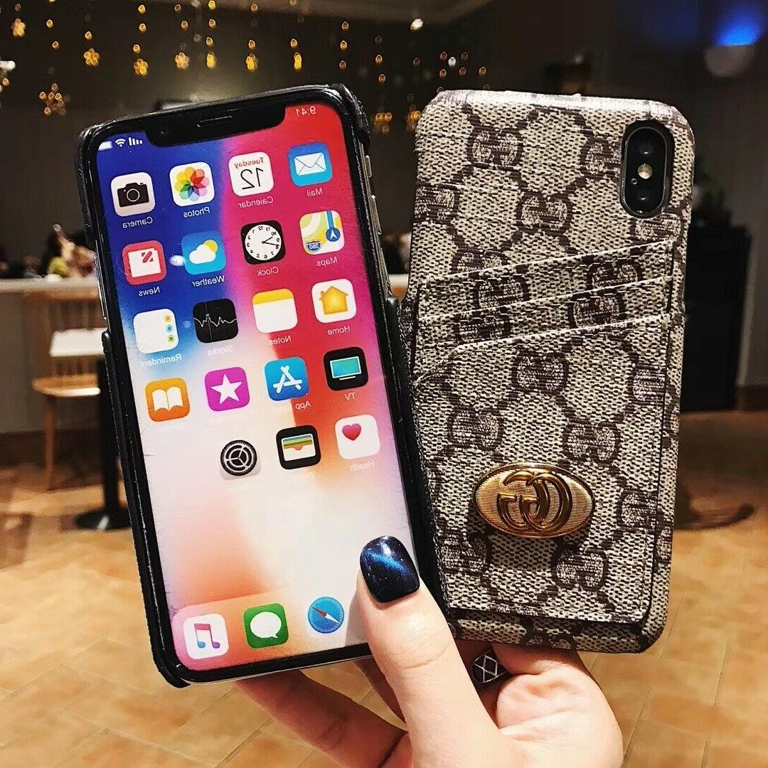 Luxury Elegant Leather Wallet Cover iPhone 8 Max XR