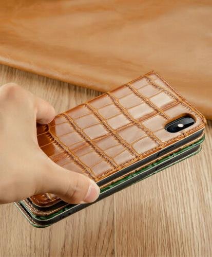 Luxury Genuine Flip Phone Card Case Cover For 7/8/XR/XS Max