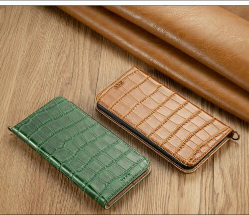 Luxury Genuine Leather Phone Card Stand Cover For iPhone Max