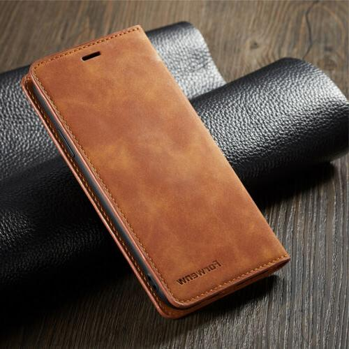 Luxury 8 Plus iPhone XS X 7 6S Leather Magnetic Case Cover