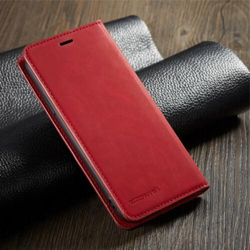 Luxury iPhone iPhone XS X 7 Leather Magnetic Wallet
