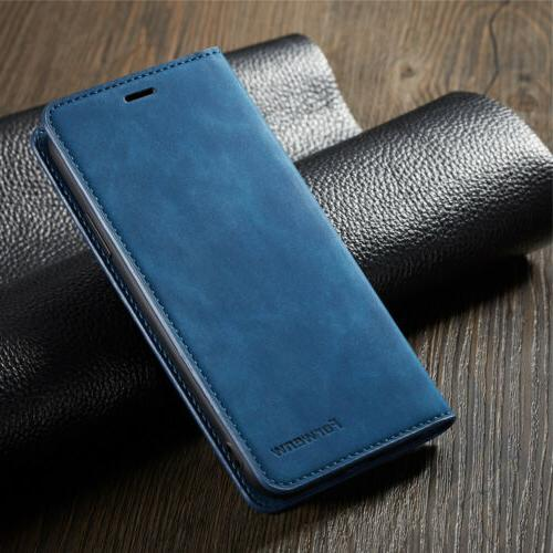 Luxury iPhone 8 Plus iPhone XS X 7 Leather Magnetic Wallet Case