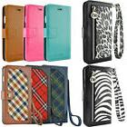 luxury leather card wallet flip case cover