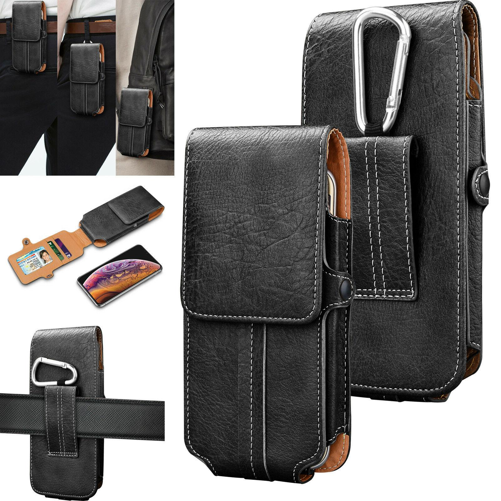 Luxury Leather Case Pouch For LG Phone With Belt Clip New