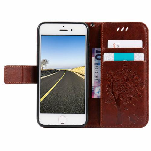 Luxury Leather Wallet Holder Phone For 7 8 Plus