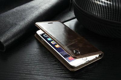 Luxury Leather Wallet Case Magnetic Flip For Plus