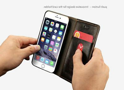 Luxury Leather Wallet Case Magnetic For 6S Plus SE