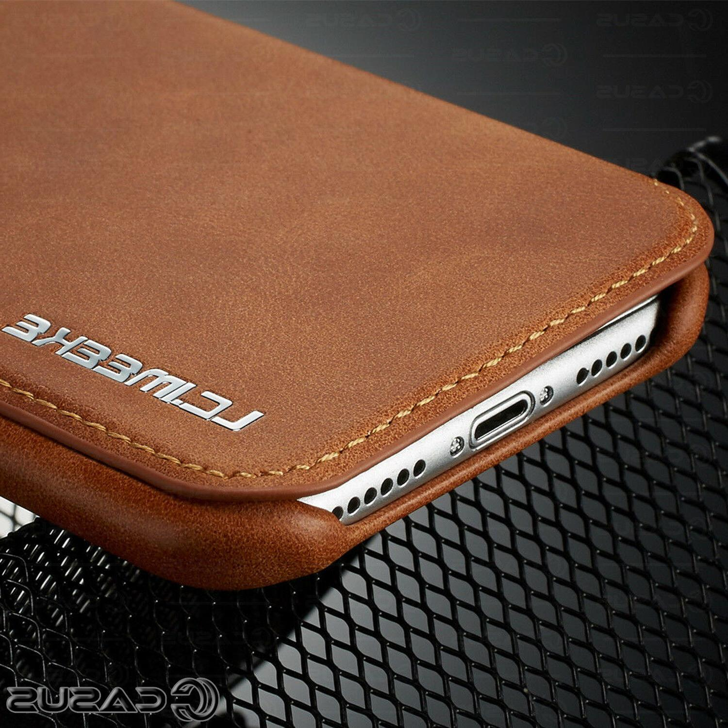 Luxury Leather Stand Thin Slim Cover for MAX 8/7